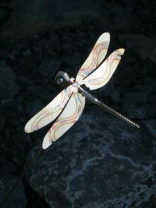 Edelstahl-Libelle