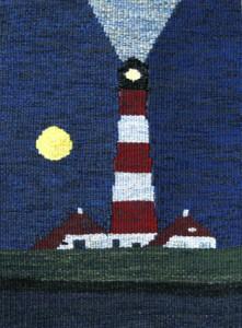 Westerhever Leuchtturm bei Nacht 30 x 40 cm